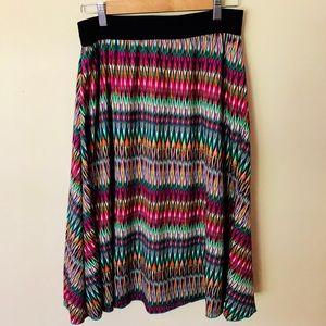 LuLaRoe Jill Skirt colorful pattern